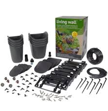 dig glw08 living wall modular vertical garden kit with 8 pots