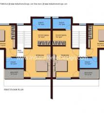Twin House Plans Modern Twin House Plans Of 1000 Sqft 3 Bedroom Home 3 Bedroom