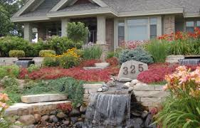 rocks in garden design front yard landscaping ideas with rocks gardening design