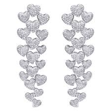 diamond earrings on sale hanging diamond earrings for sale at 1stdibs
