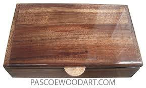 handcrafted wood box medium valet box hawaiian koa