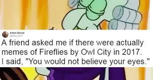 Art School Owl Meme - 19 of the best pics from that fireflies by owl city meme smosh