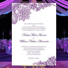 purple wedding invitations vintage lace wedding invitation purple wedding template shop