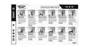 Bench Workout Routine Weider Crossbow 6 Week Workout Plan Page 1 Only U003d Poor Quality