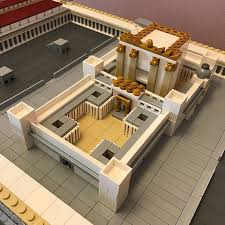 Lego House Floor Plan Solomon U0027s Temple Archbrick Lego Architecture Blog Lego
