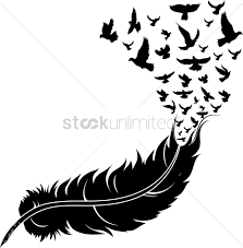 feather with birds vector image 1514999 stockunlimited