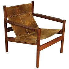 Canvas Sling Back Chairs by Furniture Teak Leather Sling Back Chair And Cozy Leather Sling