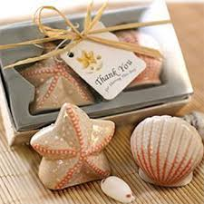 salt and pepper wedding favors starfish and seashell fancy salt and pepper shaker wedding favors