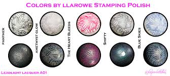 lacquer lockdown colors by llarowe stamping polish review entire