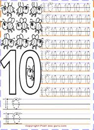 handwriting worksheets with numbers printable numbers tracing worksheets 10 for preschool printable coloring