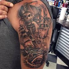 skeleton on arm