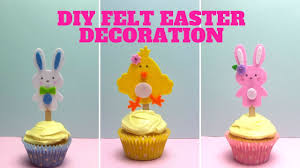 Easter Decorations From Felt by Diy Easter Felt Decorations Easter Crafts Youtube