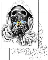 scary tattoo design bgf 00009 tattoojohnny com