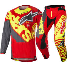 personalized motocross jersey alpinestars new mx 2018 techstar venom red yellow adults motocross
