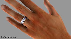 mens princess cut diamonds wedding ring vidar jewelry unique princess cut blue sapphire and wedding band for mens