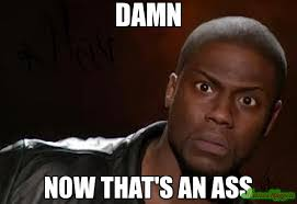 Ass Memes - damn now that s an ass meme kevin hart the hell 1814 memeshappen