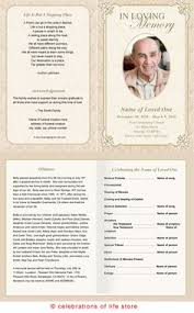 templates for funeral program how to write a funeral program obituary template sle