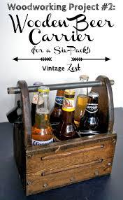 wooden beer carrier for a six pack on diane u0027s vintage zest