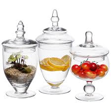 Amazon MyGift Small Clear Glass Apothecary Jars Wedding