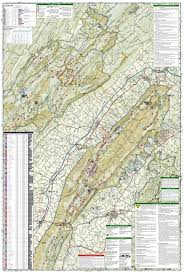 Virginia Wine Trail Map by Massanutten U0026 Great Northern Mountains Virginia 792 National