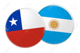 Cile Flag News Concept Chile Flag Button On Argentina Flag Button 3d