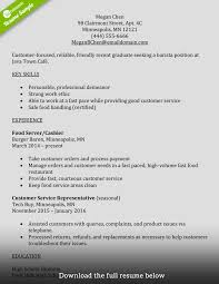 Resume Key Skills Examples How To Write A Perfect Barista Resume Examples Included