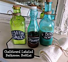 diy chalkboard labeled bathroom bottles what meegan makes