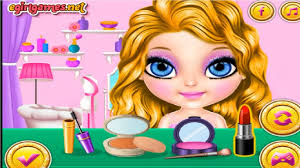 baby barbie glittery fashion makeup game baby barbie makeover dress up games for s you