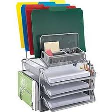 Black Wire Mesh Desk Accessories Staples Metal Incline Desktop File Sorter 8 Compartments Black