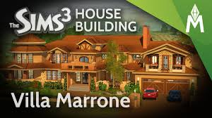 Mediterranean Style Mansion The Sims 3 House Building Villa Marrone Secret Garden