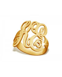 gold monogram rings monogram rings the name necklace