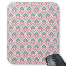 sous bureau fille modèle de zigzag de corail et blanc tapis de souris 9 50 zazzle fr