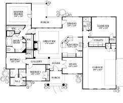 european 4 beds 3 baths 2220 sq ft plan 80 149 main floor plan