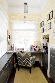 Creative Ideas Office Furniture Unique Yellow Geometric Wallpaper For Creative Ideas Home Office