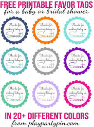 bridal shower favor tags thanks for today sweet printable play party plan
