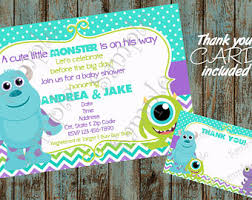 inc baby shower monsters inc baby shower etsy
