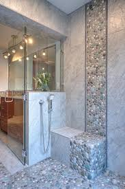 Blue Tiles Bathroom Ideas by Bathroom Enchanting Design Ideas With Blue Tiles And Shower Wall