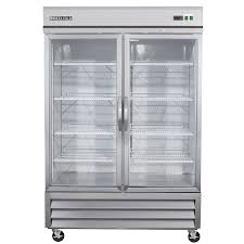 fridge freezer glass door shop commercial refrigerators at lowes com