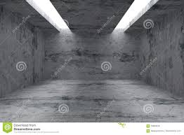 Concrete Ceiling Empty Room With Concrete Walls And Opening In Ceiling Stock