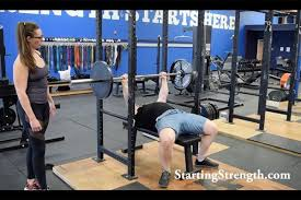 Starting Weight Bench Press Training Log Starting Strength