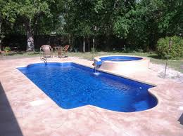 decor small inground pool with waterfall and plants for outdoor
