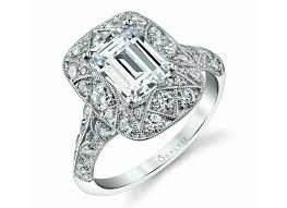vintage emerald cut engagement rings featured sylvie emerald cut vintage engagement ring king jewelers