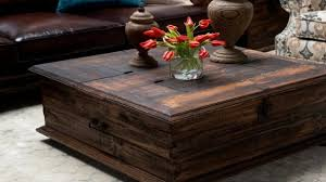 Rustic Chest Coffee Table Rustic Trunk Coffee Table Set With Contemporary Regarding 15