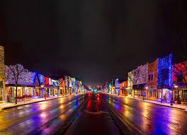 christmas lights in michigan rochester christmas light display photograph rochester michigan