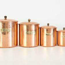 vintage metal kitchen canister sets shop flour sugar canister set on wanelo