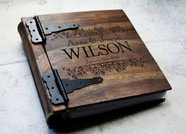 engraved photo albums unique wood wedding photo album monogrammed personalized wedding