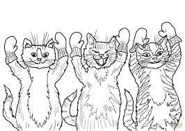 the three little kittens they found their mittens coloring page