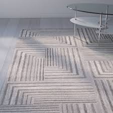 Light Gray Area Rug Wade Logan Linneman Contemporary Light Grey Dark Grey Area Rug
