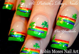 robin moses nail art st patrick u0027s day nail art 2016