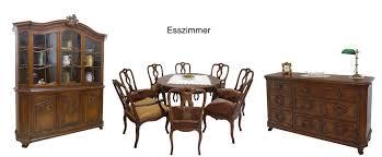 Esszimmergruppe Nussbaum Tischgruppe Essgruppe Esstisch Stühle Antik Rokokostil Um 1930